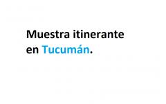 MUESTRA ITINERANTE